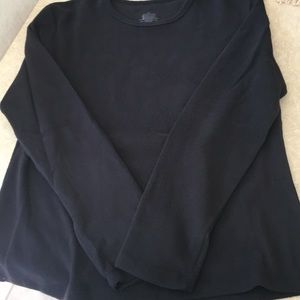 Cuddleduds fleece black shirt, XL, long sleeve